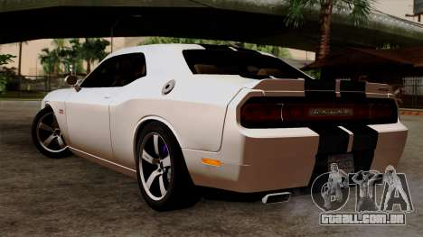 Dodge Challenger SRT8 392 2012 Stock Version 1.0 para GTA San Andreas esquerda vista