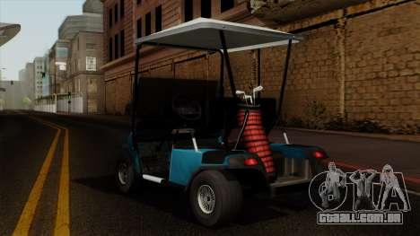 E-Z-GO Golf Cart v1.1 para GTA San Andreas esquerda vista