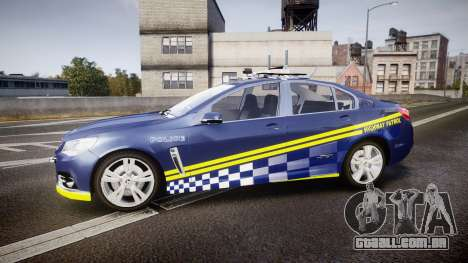 Holden VF Commodore SS Highway Patrol [ELS] v2.0 para GTA 4 esquerda vista