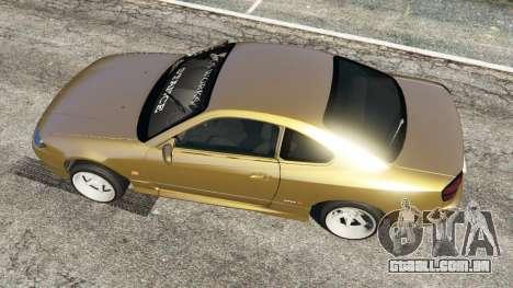 GTA 5 Nissan Silvia S15 (Wide & Camber) v0.1 voltar vista