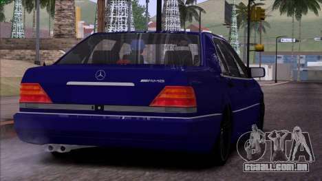 Mercedes-Benz S600 W140 para as rodas de GTA San Andreas