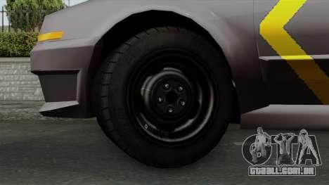 Indonesian Police Type 1 para GTA San Andreas traseira esquerda vista
