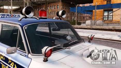 Ford Fairlane 1964 Police para GTA 4 vista direita