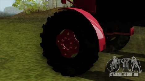 Trator MTZ80 para GTA San Andreas traseira esquerda vista
