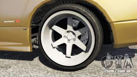 GTA 5 Nissan Silvia S15 (Wide & Camber) v0.1 traseira direita vista lateral