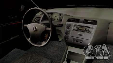 Honda Civic para GTA San Andreas vista direita