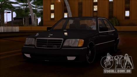 Mercedes-Benz S600 W140 para vista lateral GTA San Andreas