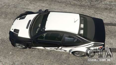 GTA 5 BMW M3 GTR E46 white on black voltar vista