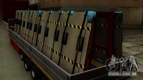 Flatbed3 Red para GTA San Andreas vista traseira