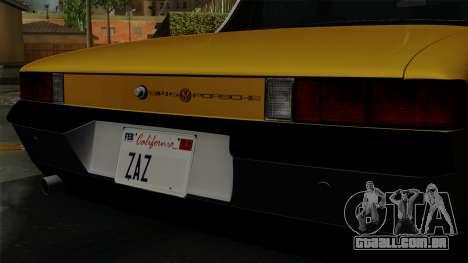 Porsche 914 1970 para GTA San Andreas vista traseira