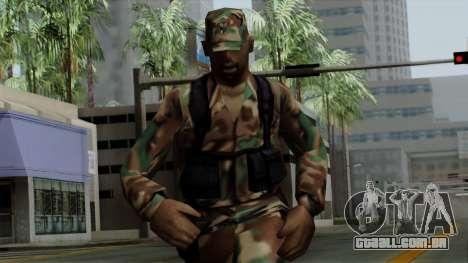 O Africano soldado Americano no padrão de camufl para GTA San Andreas