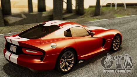 Dodge Viper SRT GTS 2013 IVF (MQ PJ) HQ Dirt para GTA San Andreas esquerda vista