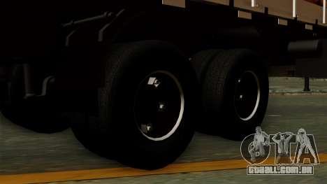 Trailer Cows para GTA San Andreas traseira esquerda vista