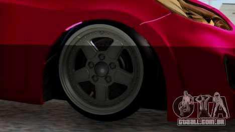 Hyundai Accent Blue para GTA San Andreas traseira esquerda vista