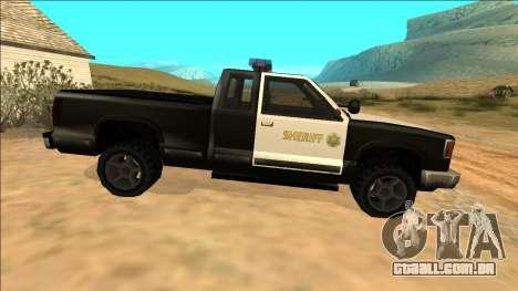 New Yosemite Police v2 para GTA San Andreas vista interior
