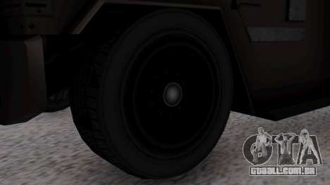 GTA 5 Enforcer S.W.A.T. para GTA San Andreas traseira esquerda vista