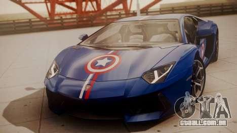 Lamborghini Aventador LP 700-4 Captain America para GTA San Andreas