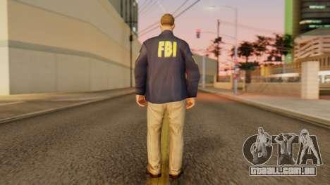 FBI Skin para GTA San Andreas terceira tela
