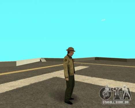 Novo skin para os policiais fora LVPD para GTA San Andreas terceira tela