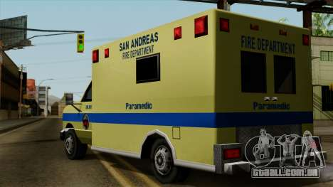 SAFD SAX Rescue Ambulance para GTA San Andreas esquerda vista