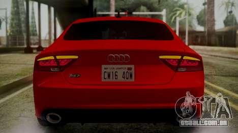 Audi RS7 2014 para o motor de GTA San Andreas