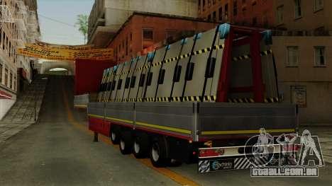 Flatbed3 Red para GTA San Andreas esquerda vista
