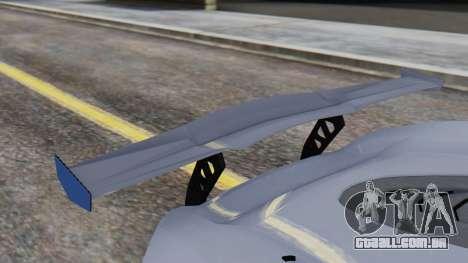 Progen T20 GTR para GTA San Andreas vista traseira