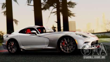Dodge Viper SRT GTS 2013 IVF (MQ PJ) HQ Dirt para GTA San Andreas traseira esquerda vista