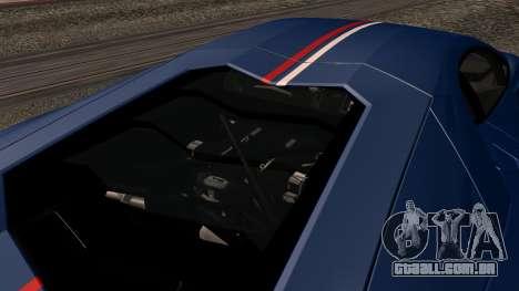 Lamborghini Aventador LP 700-4 Captain America para GTA San Andreas interior