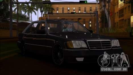 Mercedes-Benz S600 W140 para GTA San Andreas vista interior