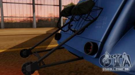Citroen 2CV (jian) Drag Style Edition para GTA San Andreas vista traseira