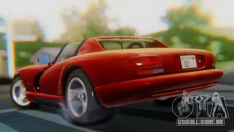 Dodge Viper RT-10 1992 para GTA San Andreas esquerda vista