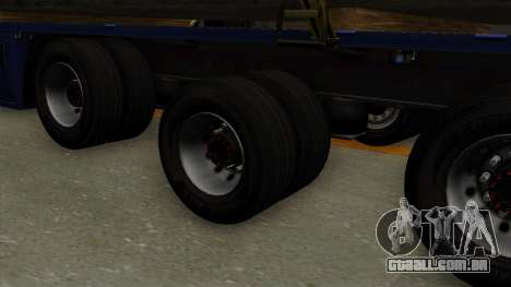 Flatbed3 Yellow para GTA San Andreas traseira esquerda vista