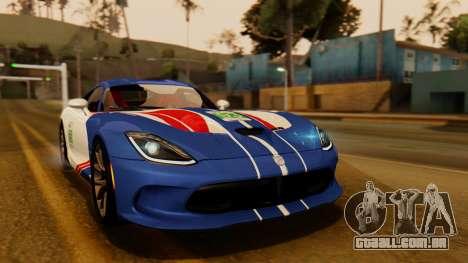 Dodge Viper SRT GTS 2013 IVF (HQ PJ) HQ Dirt para GTA San Andreas vista superior