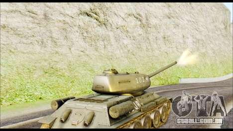 Real 102 Rudy Poland Tanks para GTA San Andreas traseira esquerda vista