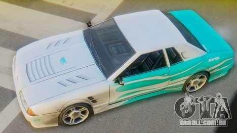 Elegy New Paintjob para GTA San Andreas traseira esquerda vista