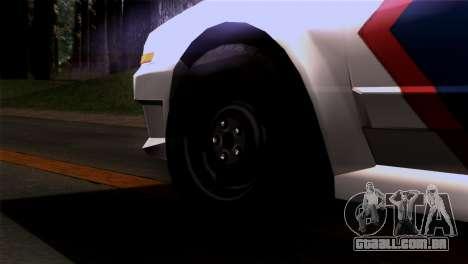 Indonesian Police Type 2 para GTA San Andreas traseira esquerda vista