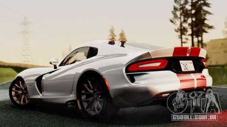 Dodge Viper SRT GTS 2013 IVF (MQ PJ) HQ Dirt para GTA San Andreas vista interior