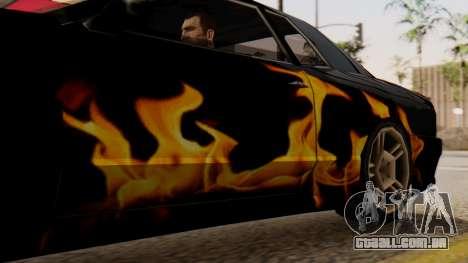 Vinil para Elegia - a Chama para GTA San Andreas traseira esquerda vista