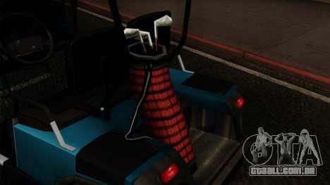 E-Z-GO Golf Cart v1.1 para GTA San Andreas vista traseira