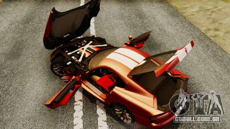 Dodge Viper SRT GTS 2013 IVF (MQ PJ) HQ Dirt para GTA San Andreas vista superior