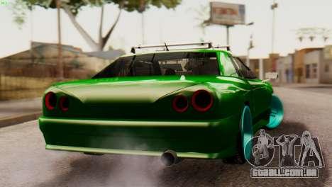 Elegy Korch New Wheel para GTA San Andreas esquerda vista