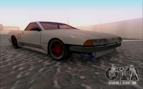 Elegy Pickup By Next para GTA San Andreas vista direita