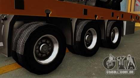 Trailer Fliegl Cargo para GTA San Andreas traseira esquerda vista
