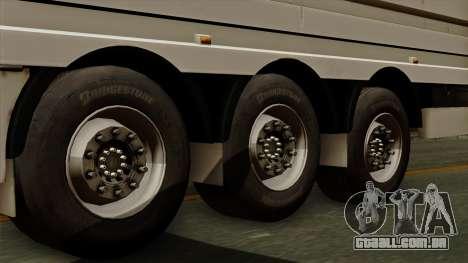 Trailer Aria para GTA San Andreas traseira esquerda vista