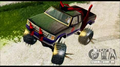 Predaceptor Monster Truck (Saints Row GOOH) para GTA San Andreas traseira esquerda vista