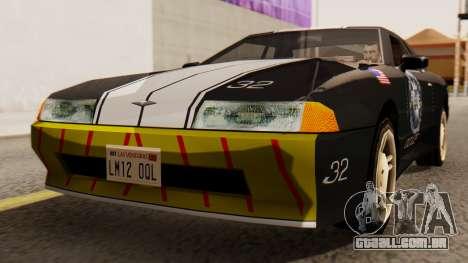 Elegy Police Edition para GTA San Andreas vista direita