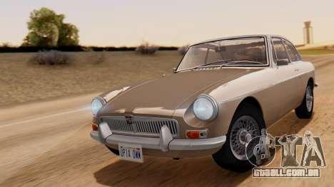 MGB GT (ADO23) 1965 HQLM para GTA San Andreas traseira esquerda vista