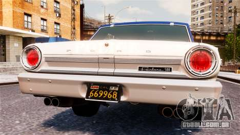 Ford Fairlane 1964 Police para GTA 4 vista interior