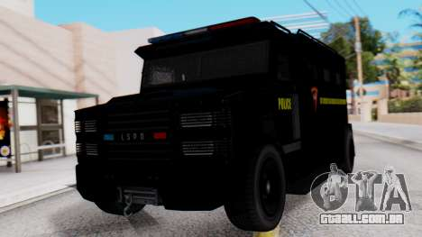 GTA 5 Enforcer Indonesian Police Type 1 para GTA San Andreas
